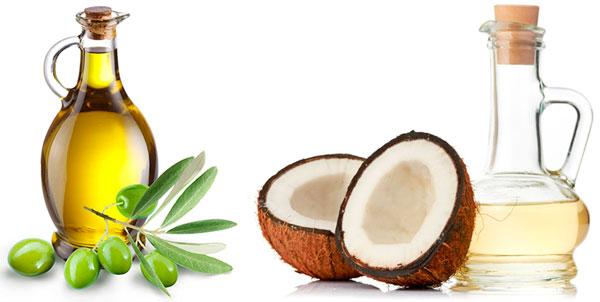 aceite de oliva y aceite de coco para blanquear los dientes