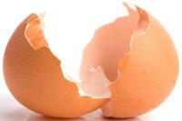 cascara de huevos para blanquear los dientes